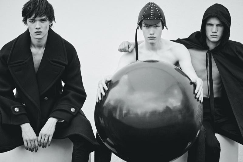 Alex, Rihards & Rubens Embrace Dark Style for Vogue Ukraine