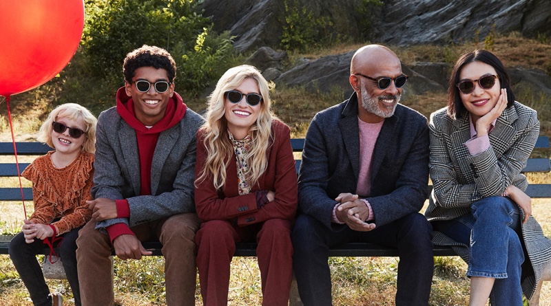 Warby Parker highlights its Percey sunglasses with a holiday outing.