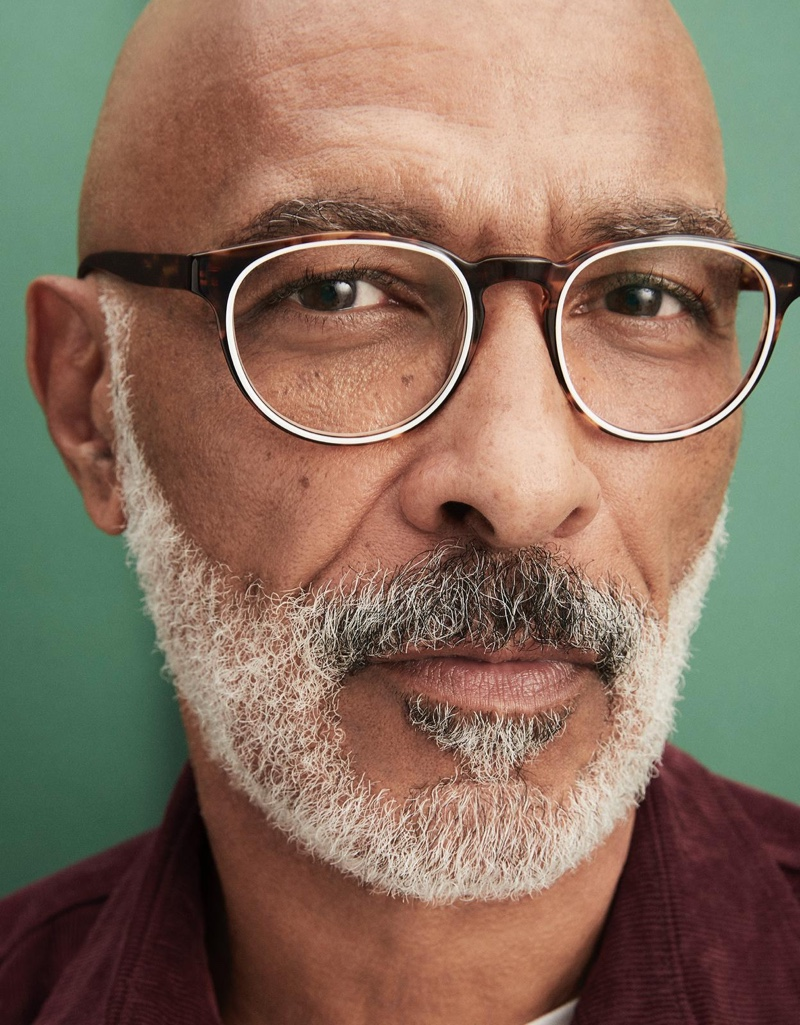 Model Lono Brazil sports Warby Parker's Percey glasses in Root Beer with ecru.