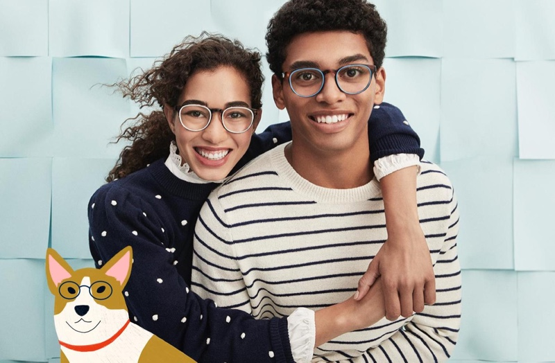 Celebrate the holidays with the gift of eyewear such as Warby Parker's Percey glasses in oak barrel with cerulean.