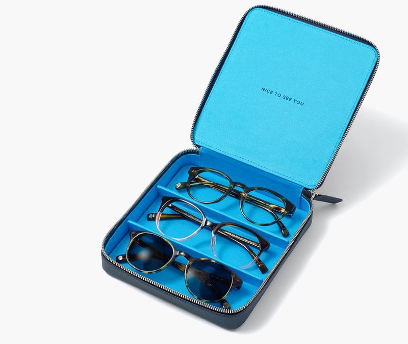A smart gift for the glasses wearer is Warby Parker's stylish travel case.