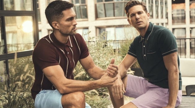 Models Tobias Sorensen and Adam Senn wear 34 Heritage's Nevada classic shorts.