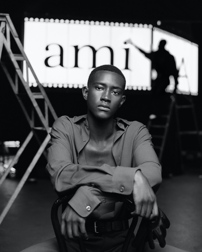 Oumar Diouf fronts AMI's spring-summer 2020 campaign.