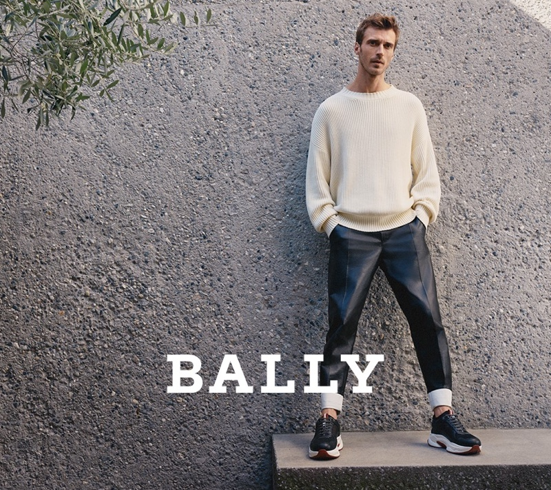 Clément Chabernaud stars in Bally's spring-summer 2020 campaign.