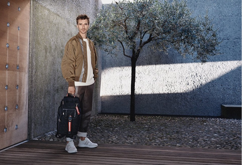 French model Clément Chabernaud fronts Bally's spring-summer 2020 campaign.