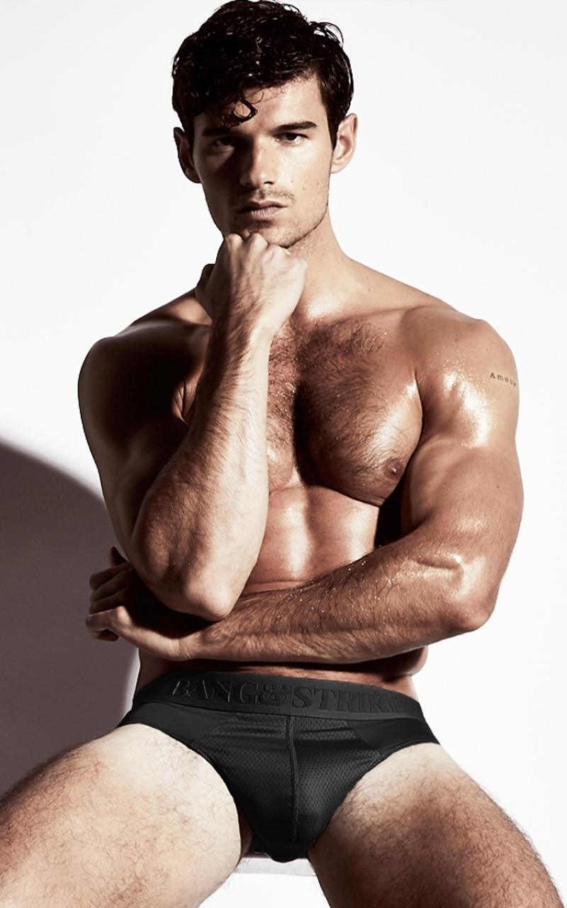 Paul Forman wears Bang & Strike pro emboss underwear.
