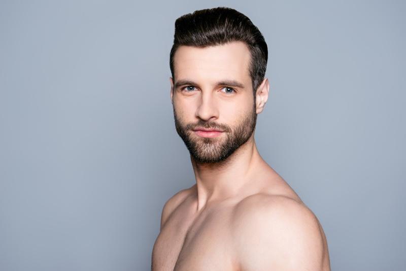 Bearded Man Clear Skin Handsome