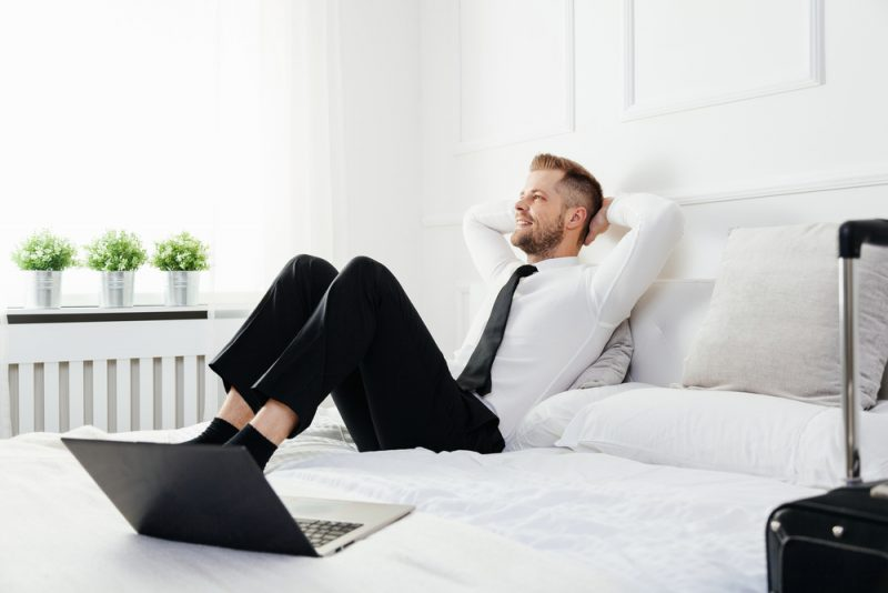 Businessman in Bed