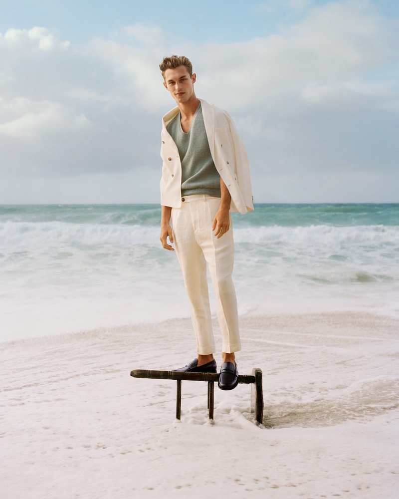 Front and center, Kit Butler appears in Church's spring-summer 2020 campaign.