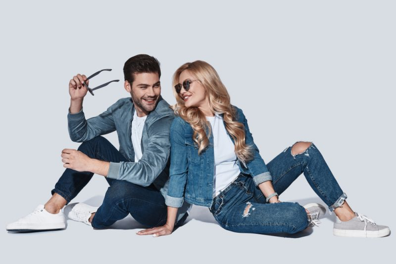 Couple in Denim Fashions