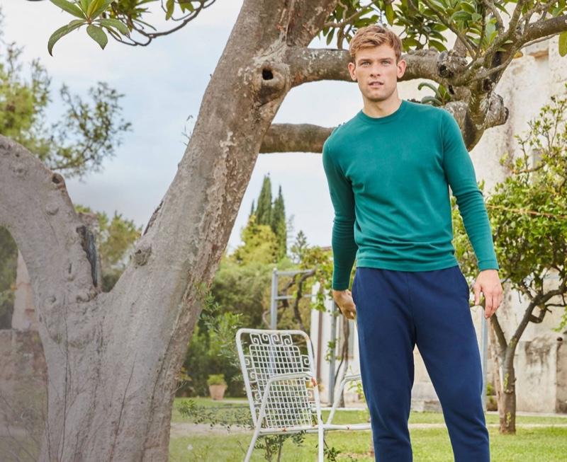 Elliott Reeder goes casual in leisurewear from Derek Rose.