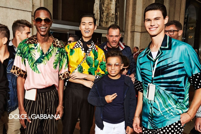 Paulo Spencer, Kim Jeong Woo, and Nicolas Jost appear in Dolce & Gabbana's spring-summer 2020 campaign.