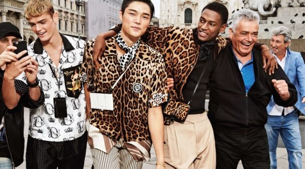 Mattia Giovannoni, Kim Jeong Woo, and Paulo Spencer front Dolce & Gabbana's spring-summer 2020 campaign.