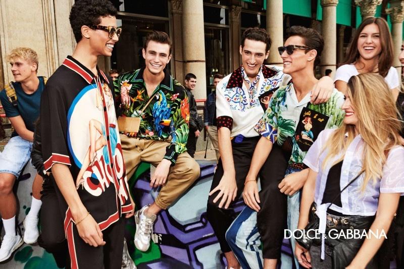 Nazim Bouaziz, Luke Farnworth, Vittorio Botti, and Carlos Gómez Galobart come together for Dolce & Gabbana's spring-summer 2020 campaign.