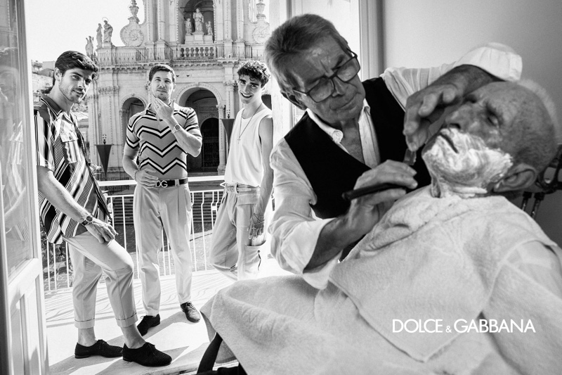 Dolce & Gabbana enlists Evandro Soldati, Adam Senn, and Kane Roberts to star in its spring-summer 2020 campaign.