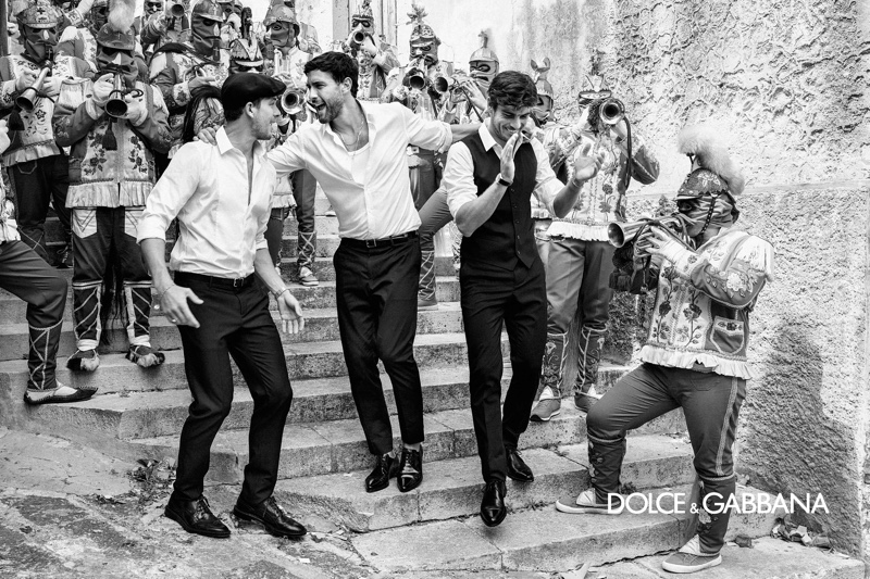 It's an epic reunion as Adam Senn, Noah Mills, and Evandro Soldati come together for Dolce & Gabbana's spring-summer 2020 campaign.