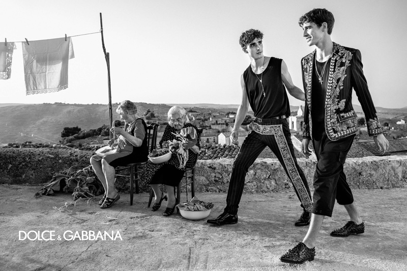 Representing Dolce & Gabbana's newest generation of models, Kane Roberts and Amerigo Valenti star in the brand's spring-summer 2020 campaign.