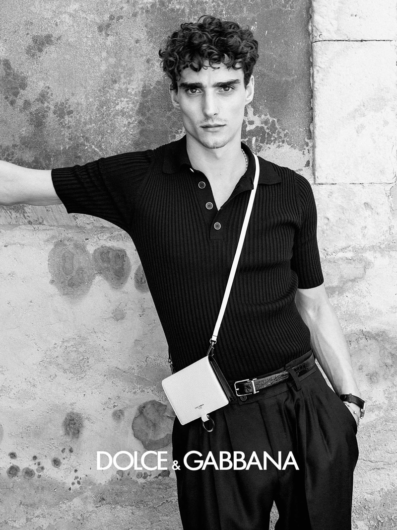Front and center, Kane Roberts stars in Dolce & Gabbana's spring-summer 2020 campaign.