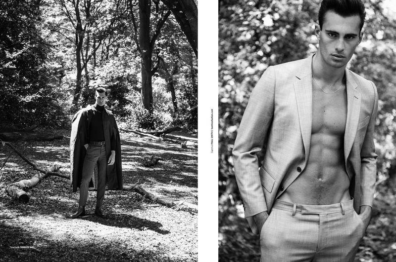 Elliot Meeten Takes to Woods for L'Officiel Hommes Poland