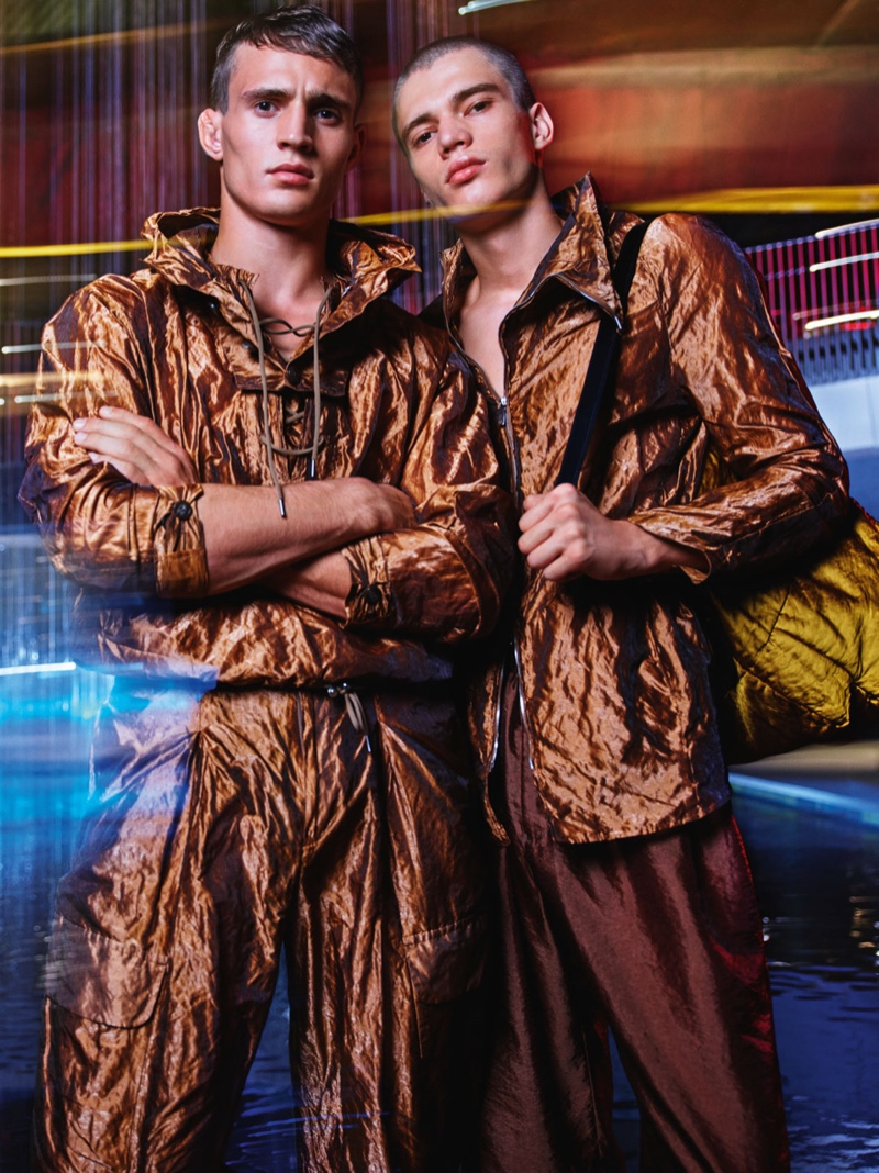 Julian Schneyder and Dalibor Urosevic front Emporio Armani's spring-summer 2020 campaign.