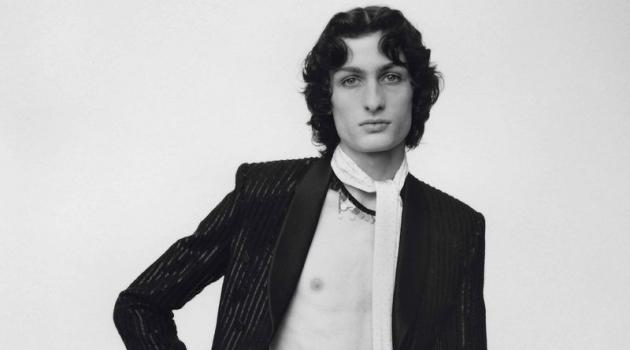 Ethan Haddad Models Saint Laurent for Replica Man