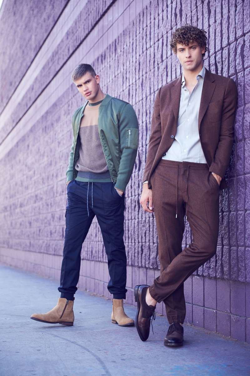 Ben and Dean wear all clothes Z Zegna.