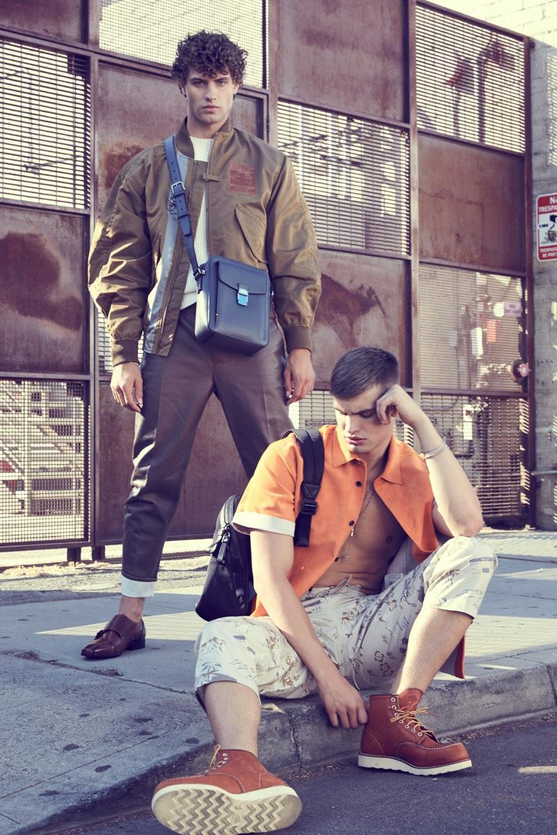 Dean and Ben wear all clothes Bally.