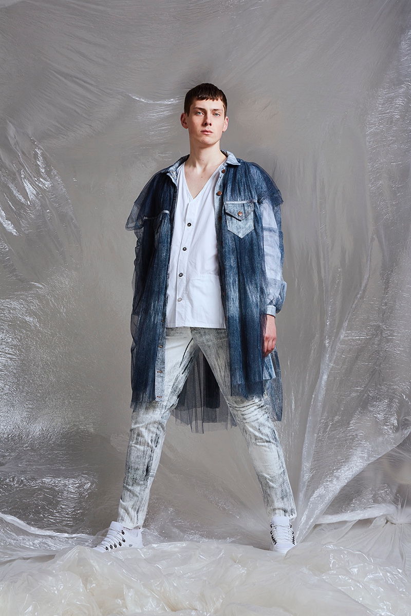 Hubert wears shirt Omen, shoes ASOS, jacket and trousers Maria Lingenover.
