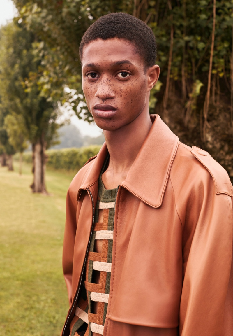 Fendi enlists Romaine Dixon as the face of its spring-summer 2020 men's campaign.