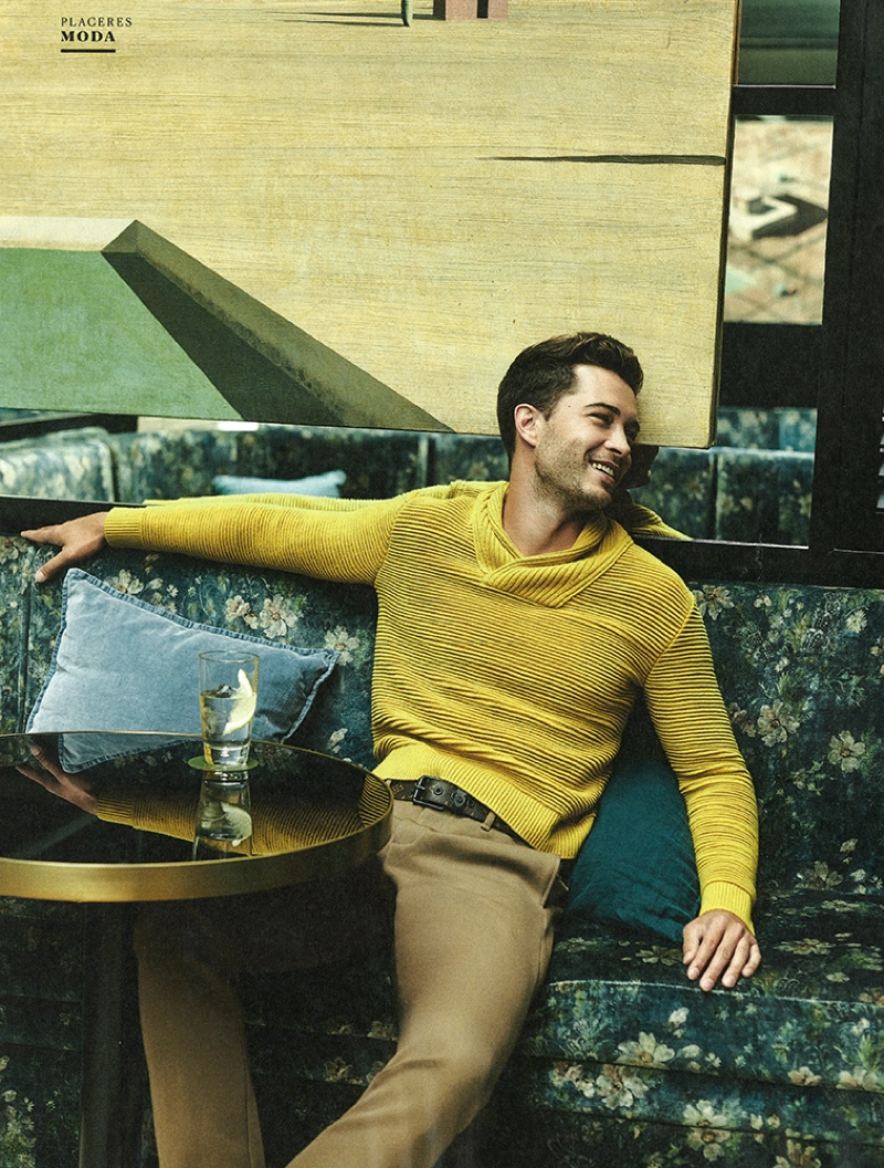 Francisco Lachowski Dons Smart Menswear for El País Semanal