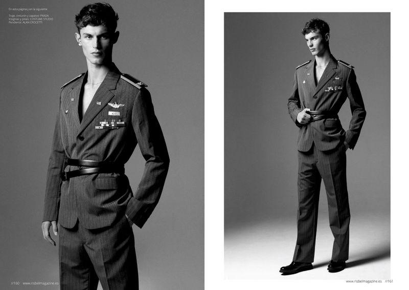 Kit Butler Hits the Studio in Military-Inspired Looks for Risbel