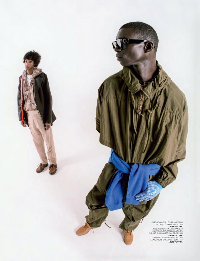 LV Boys: Fernando, Kurtis + More Don Louis Vuitton for Lui Magazine