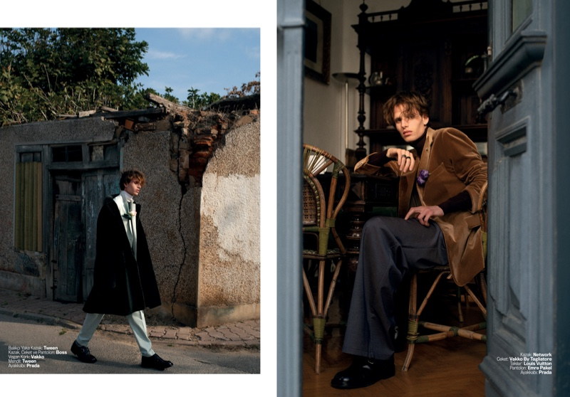 Niklas Dons Chic Fashions for Marie Claire Man Turkey