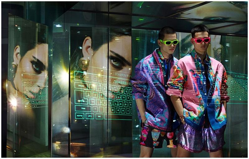 Kohei Takabatake and Tommy Vanden Meerssche star in Versace's spring-summer 2020 campaign.