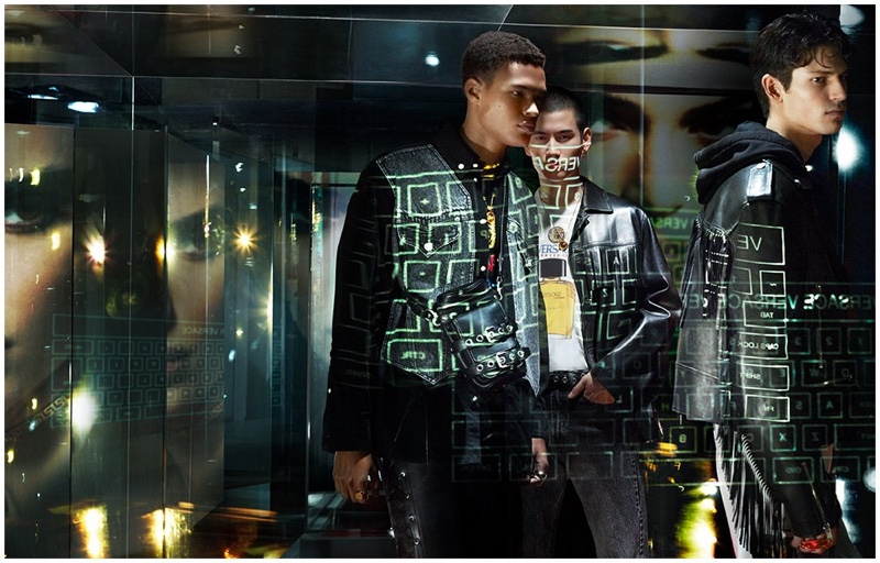 Versace enlists models Kohei Takabatake and Justin Eric Martin to star in its spring-summer 2020 campaign.
