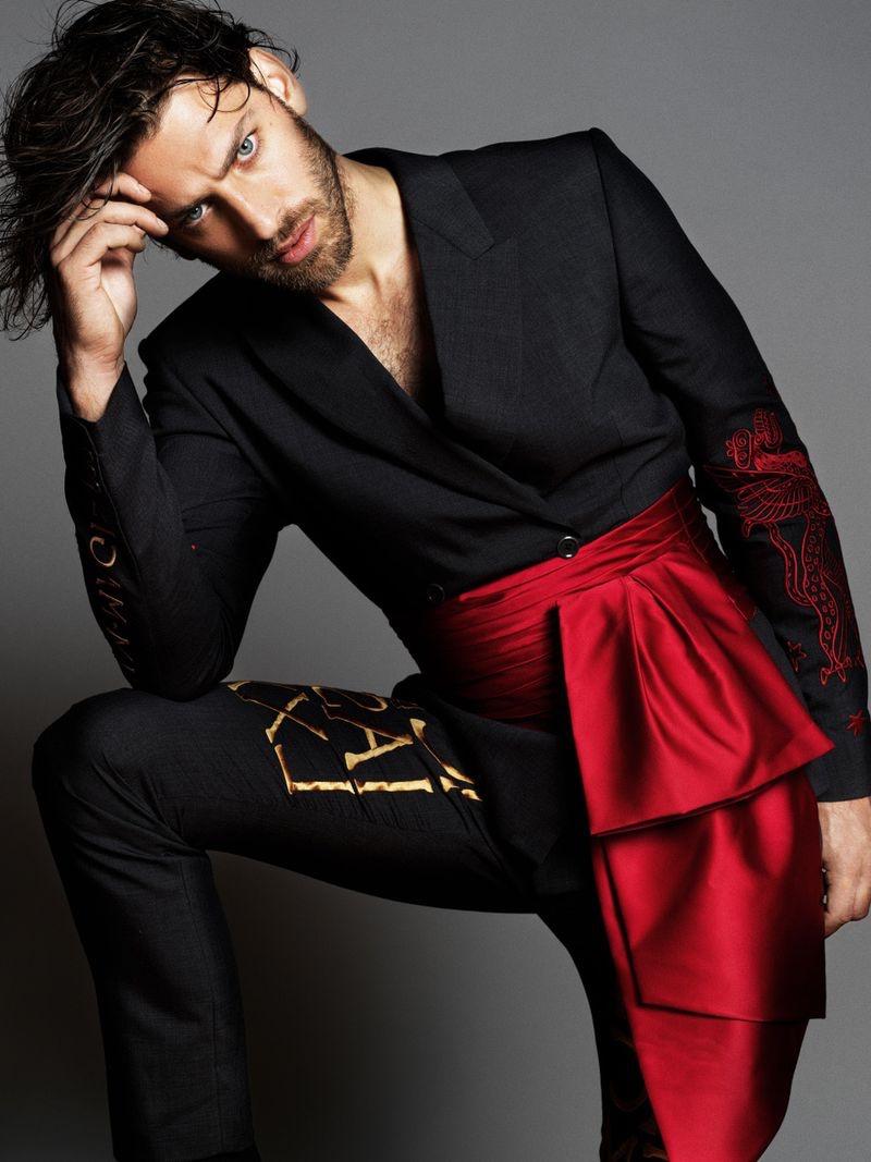 Vincent Banic Dons Bold Dark Style for L'Officiel Lithuania