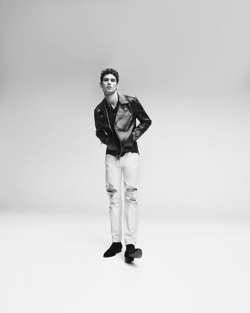 Hitting the studio, Arthur Gosse fronts 7 For All Mankind's spring-summer 2020 campaign.