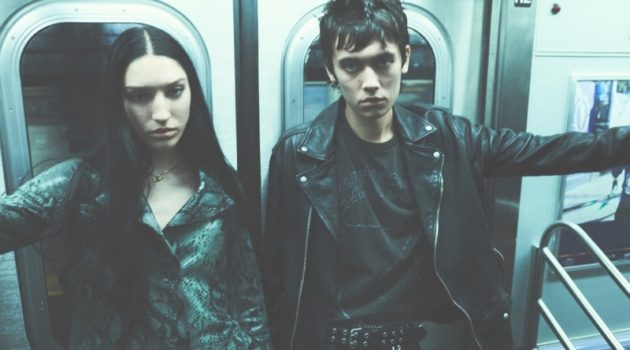 Oceana Mawrence and Miles Rogers star in AllSaints' spring-summer 2020 campaign.
