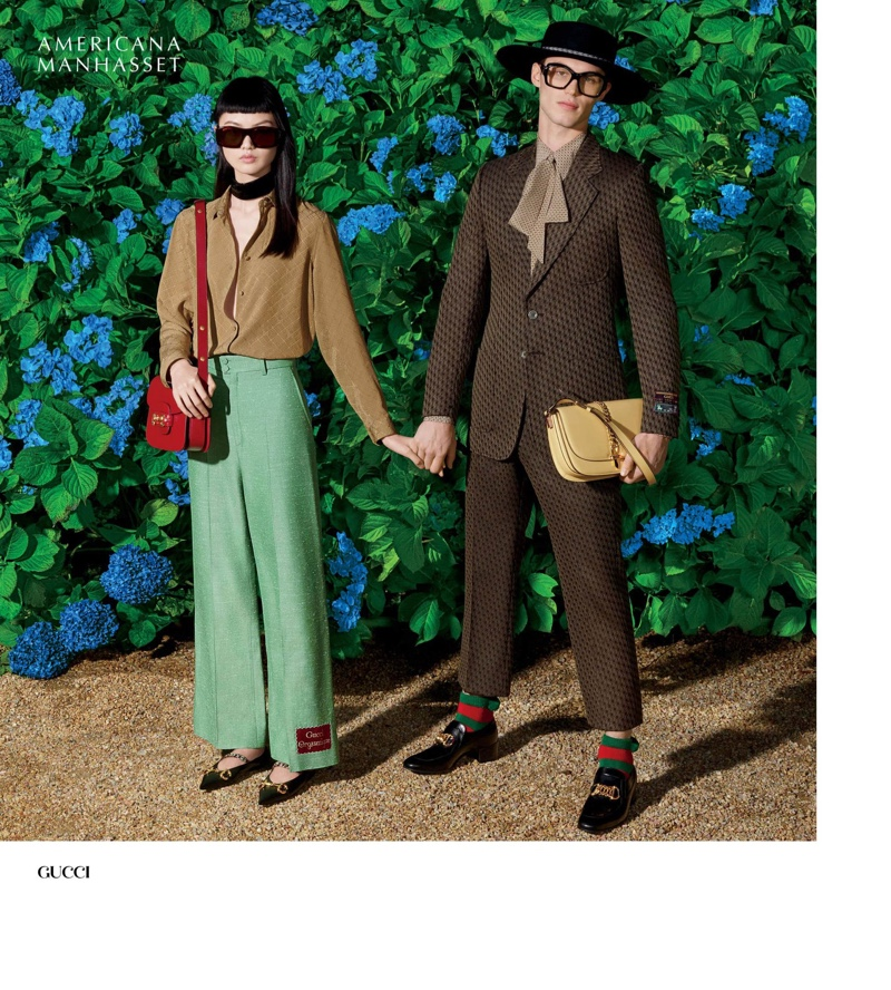 He Cong and Kit Butler stand out in Gucci spring looks.