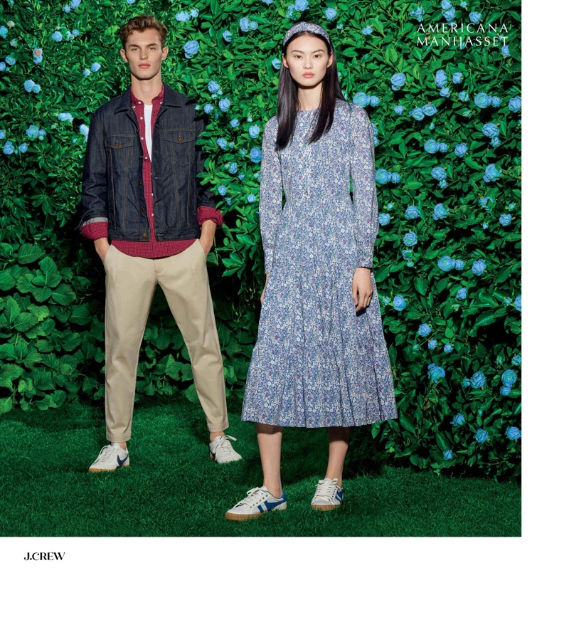 Making a case for preppy style, Kit Butler and He Cong model J.Crew fashions.