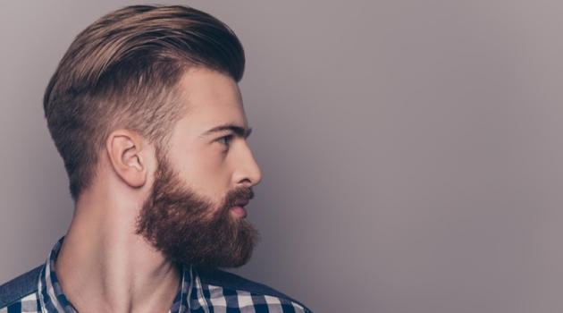 Attractive Man Beard Side Profile