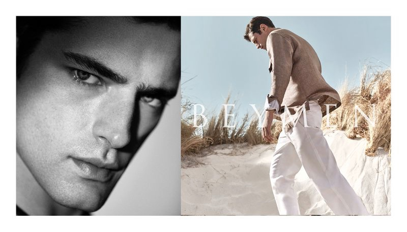Taking to the beach, Sean O'Pry stars in Beymen's spring-summer 2020 campaign.