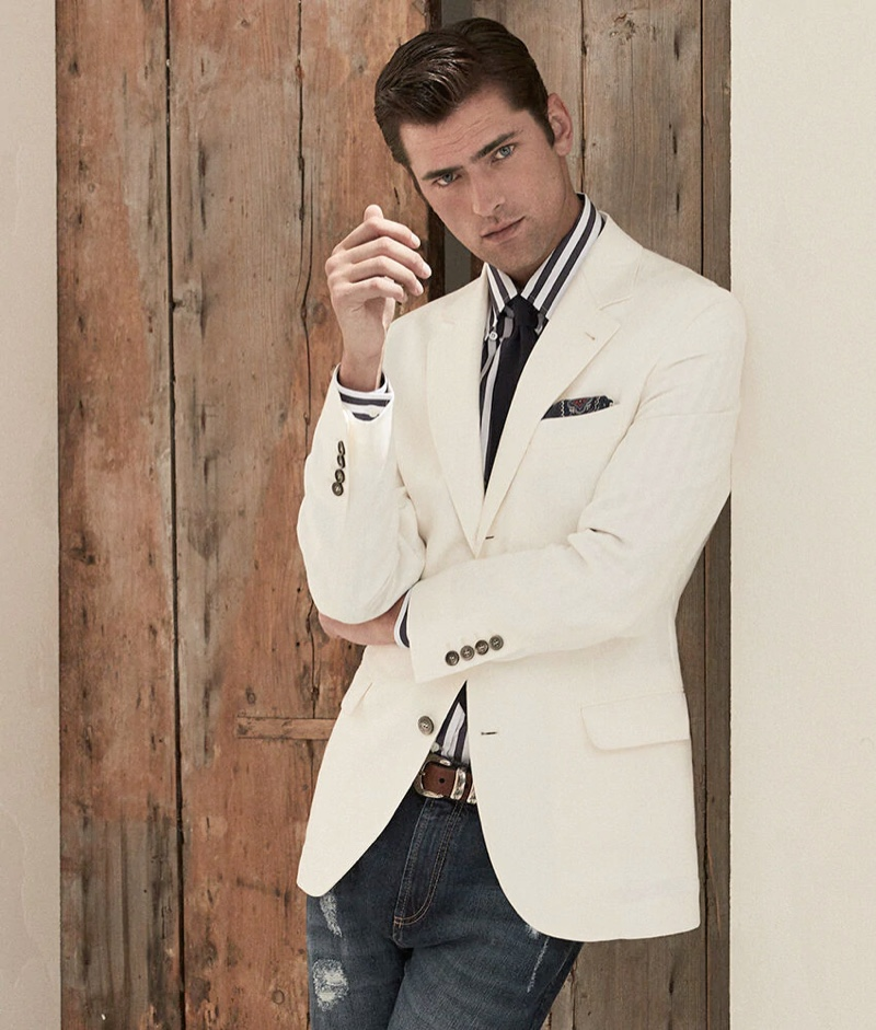 American model Sean O'Pry stars in an inspiring editorial for Brunello Cucinelli.
