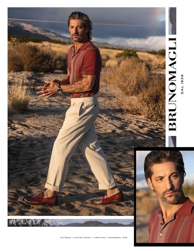 JUANKR photographs Tony Ward for Bruno Magli's spring-summer 2020 campaign.
