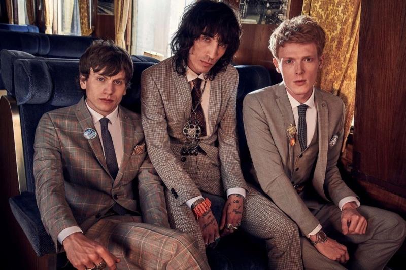 Models Sid Ellisdon, Juan Milan, and Linus Wordemann don dashing suits for Club of Gents' spring-summer 2020 campaign.