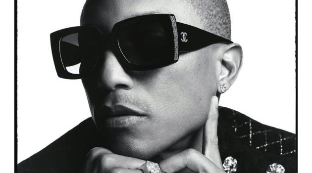 Pharrell Williams rocks shades for Chanel's spring-summer 2020 eyewear campaign.