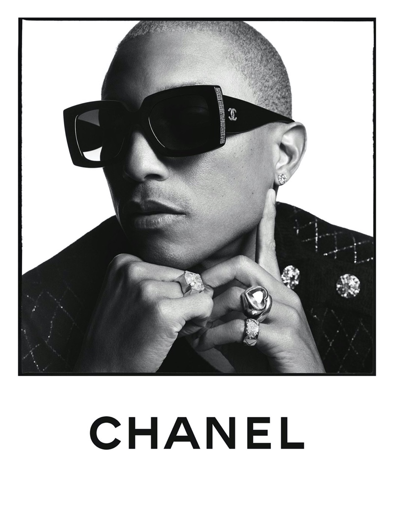 Pharrell Williams rocks shades for Chanel's spring-summer 2020 eyewear campaign.