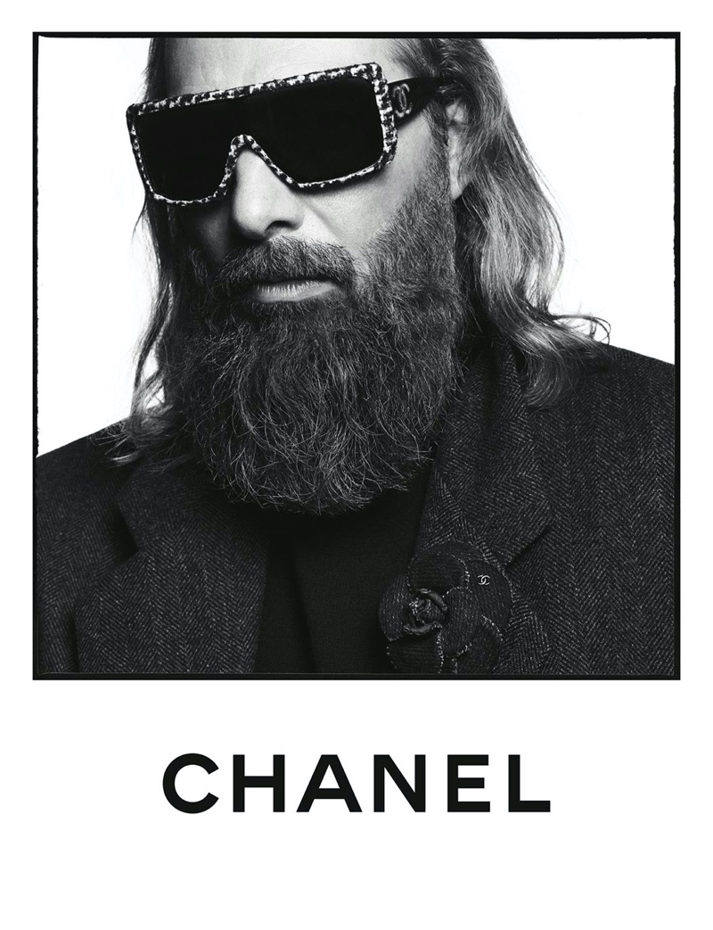 Sébastien Tellier appears in Chanel's spring-summer 2020 eyewear campaign.
