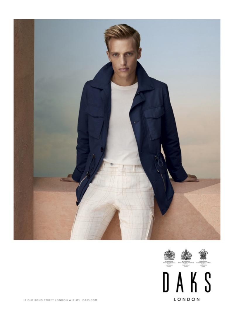 Front and center, Victor Nylander stars in Daks' spring-summer 2020 campaign.