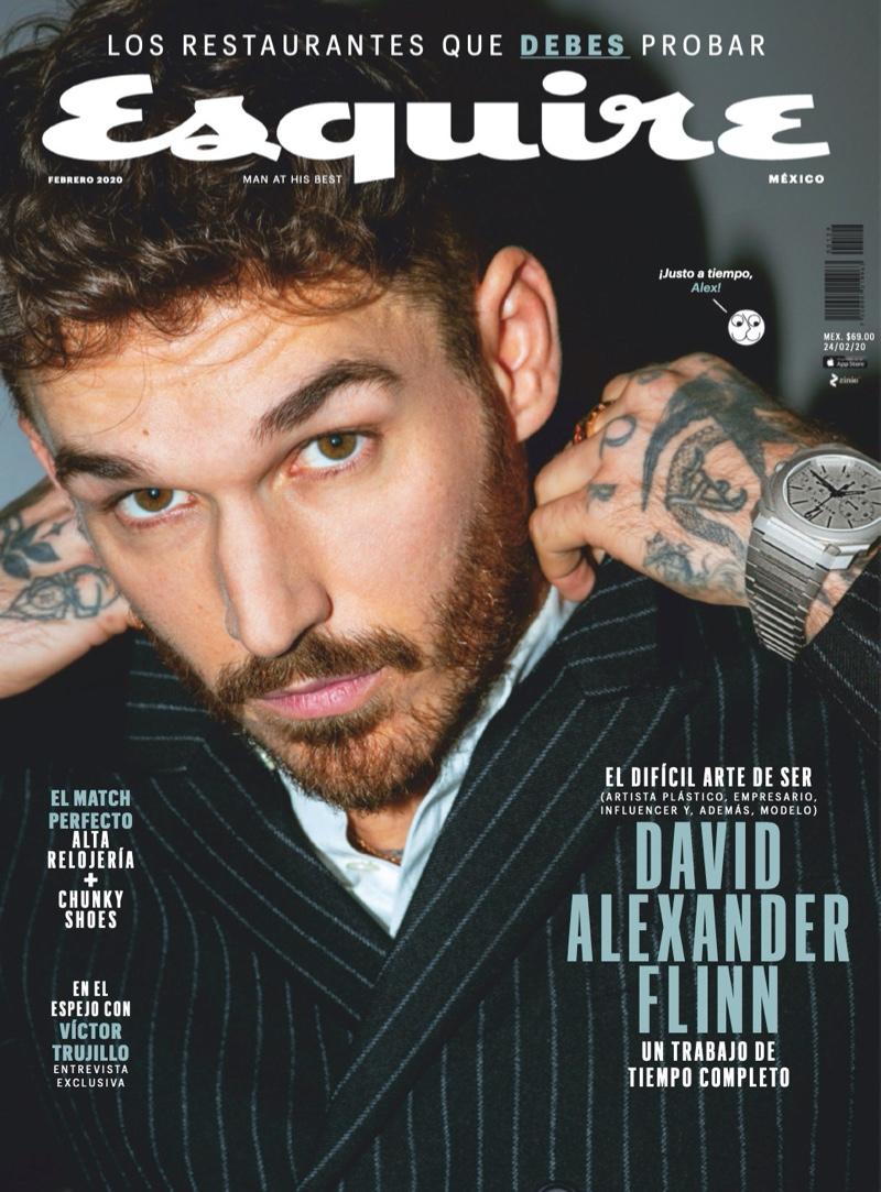 David Alexander Flinn Stars in Esquire México Cover Shoot